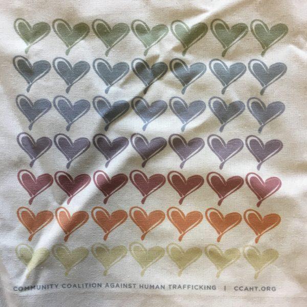 Multi-Color Hearts Tote