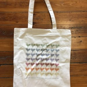 Multi-Color Hearts Tote