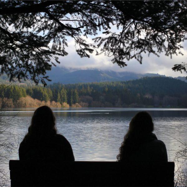 women-park-bench